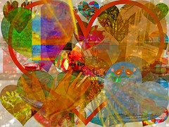 Love (soniaadammurray - On & Off) Tags: digitalphotography manipulated experimental collage abstract love collaboration global hate together teamwork barriers race religion sexualorientation discrimination act artchallenge