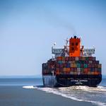 Shipping Boat at Sea thumbnail