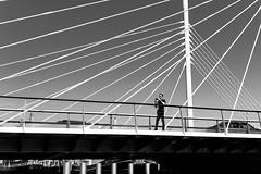 Malmö (drasphotography) Tags: malmö sweden bridge man architecture architektur monochrome monochromatic monotone drasphotography travel travelphotography reise reisefotografie brücke urban schwarzweis bianconero