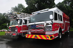 Hopewell Fire Department Quint 52 · Rescue 52 (Triborough) Tags: nj newjersey hunterdoncounty eastamwelltownship eastamwell ringoes hfd hopewellfiredepartment firetruck fireengine ladder ladder52 quint quint52 eone engine rescue rescue52 rosenbauer commander