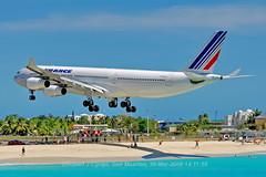 Air France, Airbus 340, A343, F-FLZO, TNCM, 30MAR2008 (rcijntje) Tags: pjia sintmaarten airfrance airbus a340 a343