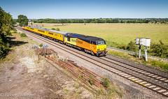Rail to spare (Mirrorfinish) Tags: class67 67027 colasrail charlotte train railway locomotive networkrail leamarston warwickshire