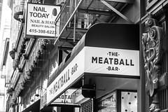 The Meatball Bar (MrMatuski) Tags: sanfrancisco chinatown blackandwhite