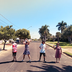 Fab four (MastaBaba) Tags: lins sãopaulo brazil br babak natalia beatles four 4 family street crossing road brasil