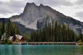 Mount Burgess as a Magnificent Backdrop for Emerald Lake (Yoho National Park)