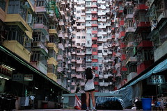 Lost (Wilson Au | 一期一会) Tags: 富士 xe2 fujifilm 7artisans 25mm hongkong buildings building colors housing highdensity living street quarrybay