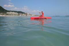 Baywatch (N I C K ....1 8 2 8) Tags: baywatch pattino blu boat beach barca sea sole sun mare men rosso red sonyz1cameraphone