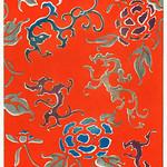 Floral pattern from Bijutsu Sekai (1893-1896) by Watanabe Seitei, a prominent Kacho-ga artist. Digitally enhanced from our own original edition. thumbnail