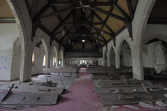 Church in The Hood (RiddimRyder) Tags: abandoned derelict urbex beautyindecay urbanexploration corridor seats cathedral church pews jesus canon stainedglass windows america usa detroit michigan riddimryder badhombres