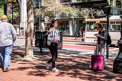 San Francisco 2018 (burnt dirt) Tags: sanfrancisco california vacation town city street road sidewalk crossing streetcar cablecar tree building store restaurant people person girl woman man couple group lovers friends family holdinghands candid documentary streetphotography turnaround portrait fujifilm xt1 color laugh smile young old asian latina white european europe korean chinese thai dress skirt denim shorts boots heels leather tights leggings yogapants shorthair longhair cellphone glasses sunglasses blonde brunette redhead tattoo pretty beautiful selfie fashion japanese luggage pattern purple tight