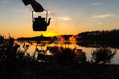 campfire by a lake and sunset (VisitLakeland) Tags: finland summer campfire fire järvi kesä lake luonto nature nokipannu nuotio nuotiopaikka outdoor pan pannu sun sunrise sunset vastavalo