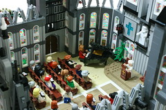 """LEGO """" Catholic church """" diorama. (gkdldis1201) Tags: lego moc diorama minifigure minifigures minifig minifigs mini figure creation custom catholic church"""