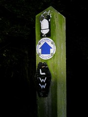 Lyke Wake Walk (stillunusual) Tags: lykewakewalk challengewalk hike hiking yorkshire northyorkshire northyorkmoorsnationalpark acorn signpost evening night dark 2018