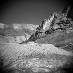 Cape Kiwanda #3 (LowerDarnley) Tags: holga oregon oregoncoast capekiwanda pacificcity pacificocean northwest rocks beach dunes