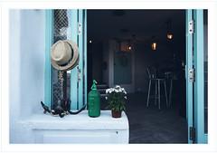 Anchor, hats and green siphon. (GlebLv) Tags: a6000 sony spain espana peníscola valencia castellón blue door interior anchor hats siphon summer sigma16mmf14dcdncontemporary travel