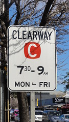 Clearway Sign (RS 1990) Tags: june 2012 adelaide southaustralia australia clearway trafficsign times