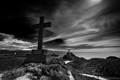 Llanddwyn Island (Richard Walker Photography) Tags: coast cirrus landscape snowdonia nature hill wales beach clouds blackwhite ocean lighthouse sea anglesey