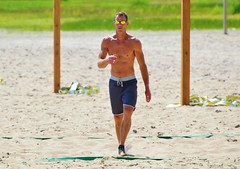 Summer In The City .... Woodbine Beach Volleyball Player (Greg's Southern Ontario (catching Up Slowly)) Tags: thebeachestoronto volleyballplayer woodbinebeach torontoist summerincanada summerinthecity summer shirtlessman beach