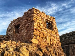 """Watchtower"" at Two Guns Arizona (Nate Loper - #ArizonaGuide) Tags: he twoguns canyondiablo ghosttown indian watchtower ruins archaeology history wildwest arizona winslow holbrook architecture apache navajo navajonation ghoststories sky sunset arizonaguide southwest flagstaff"