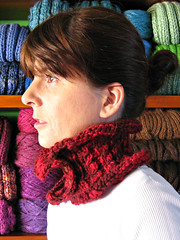 Micro Scarf Hand Knitted in Red Wool (brandacrafts) Tags: branda cowl knits manosdeluruguay neckwarmer