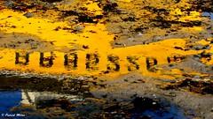 Yellow reflection (patrick_milan) Tags: jaune yellow ship boat marking bateau numeber reflet tide eau water