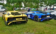 Sant'Agata Bolognese Sisters (MANETTINO60) Tags: lamborghini aventador sv lemansclassic le mans 24h v12 santagata bolognese race lambo yellow blue car exotics supercars super veloce lp 7504 lp7504 italian rear arriere