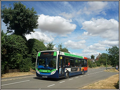36215, Welton Road (Jason 87030) Tags: 4 branded d2 daventry northants rugby midlands stagecoach enviro e200 weltonroad weather sky clouds summer tfh toohot kx60lhy july season 2018 evil bloodmoon uk england wheels transportation road roadway tree trees