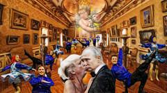 A Private Ceremony in Helsinki (Bill Sargent) Tags: trump trumpty love wedding putin kiss russian cossack dance