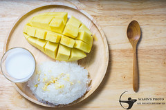 Thai style dessert,mango with sticky rice. (absolute_nt) Tags: asia asian background banana coconut cream culture delicious dessert eat food fresh fruit glutinous health healthy leaf mango milk nature nutrition organic rice sticky style sugar summer sweet thai thailand tropical yellow