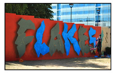 WORK IN PROCESS by LOVEPUSHER (StockCarPete) Tags: lovepusher flakes streetart londonstreetart urbanart graffiti workinprocess wip croydon cronx london uk