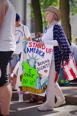 Stand Up America (michael.veltman) Tags: keep families together protest joliet america 4th july freedom for all
