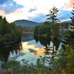 Lake Placid - New York  ~ Adirondack Mountains  ~ Historical - Sunset Reflection thumbnail