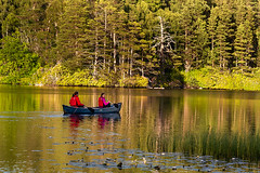 Evening Canoe Trip Amongst The Reflections (Geoff France) Tags: canoe kayak canoeing landscape scottishlandscape loch lake mere lochfarr water paddle oar reflection eveninglight highlands scottishhighlands scotland