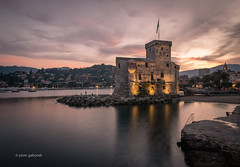 Castello di Rapallo (pietkagab) Tags: rapallo castle castello liguria evening sunset water city town old medieval italy ligurian italian europe european architecture building pietkagab photography pentax pentaxk5ii piotrgaborek travel trip tourism sightseeing