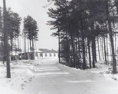 c. 1955 / 1956 - Vintage Snapshot Photo - Winter Scene / Various Buildings at Military Camp Petawawa, Ontario - Petawawa, Ontario (Treasures from the Past) Tags: camppetawawa military petawawa ontario canada winter scene 1955 1956