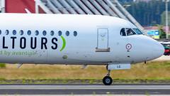 Avanti Air (mairmaximilian) Tags: avantiair daolg fokker f100 flughafenmemmingen memmingen passenger airliner runway cokpit fly