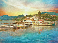 """Corfu 30 """"My passion Paintography"""" (""""Alive and Clicking!""""- 2 Mill. Thanks) Tags: painterly corfu pontikonisi landscape"""