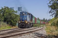 Transap 2304 | Estación Chiñigue (Felipe Radrigán) Tags: tren ferrocarril train railroad railway locomotora locomotive d2304 2304 transap chiñigue talagante sanantonio cfx contenerdores acido estacion emd sd39