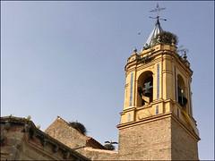 Andalusia - The Storks (Christian Lagat) Tags: espagne spain andalousie andalusia palosdelafrontera église church saintgeorges clocher cigognes storks colomb colombus 1492