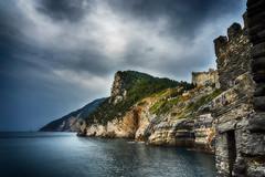 Sea and see (Meer und mehr) (peterwarhier) Tags: landscape landschaft sea meer mountains berge iitaly italien wasser water