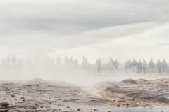 Waiting For Nature To Happen (pni) Tags: steam sky cloud human people being person man woman kid child group flock homunculi strokkur geysir geyser goshver is18 iceland ísland pekkanikrus skrubu pni