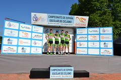 La selección de Euskadi en el podium del Campeonato de España Infantil.