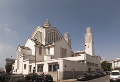 Rabat International (Christian) Church TPano(4) (jarhtmd) Tags: africa morocco panorama pano rabat religious church canon eos70d architecture tower towerssteeples
