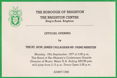 Opening of the Brighton Centre (davids pix) Tags: brighton centre conference official opening invitation james callaghan prime minister 1977