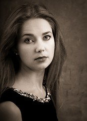 Kristina (phonia20) Tags: woman girl beautiful look face regard eyes brunette studio pentax bowens k1 ancien style nostalgy hank you
