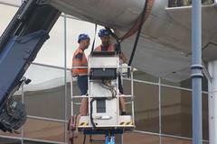 DSC01191 (The Unofficial Photographer (CFB)) Tags: alanjulian chris hunter aviation restoration woking deardiaryjuly2018 2018 alanallen aln julian brooklands history hiviz