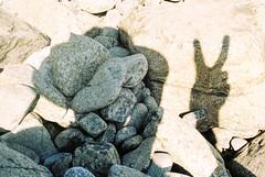Rocky shadow (Thiophene_Guy) Tags: thiopheneguy originalworks canonet ql17 canonetql17giii kodakgold200 rollfilmweek shadow stone rock