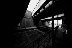IMG_2898 (JetBlakInk) Tags: trainbridge railwaybridge lowkey lightandtone shadowyfigure streetphotography streetscene men mono