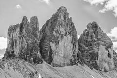 Tre Cime Northern Aspect (Andrew Luyten) Tags: bw dolomites dreizinnen exodus trecimedilavaredo mountain toblach trentinoaltoadige italy it