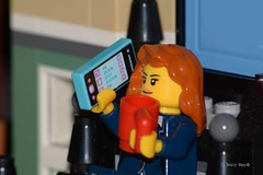 Coffee and Calls (108/365) (Tas1927) Tags: 365the2018edition 3652018 day108365 18apr18 lego minifigure minifig